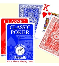 Produkt Poker karty - 100% plastic Jumbo Index
