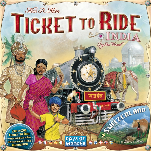 Ticket to Ride - Mapy Indie a Švýcarsko